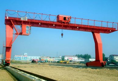 L-Shaped Legs Enojni nosilec Gantry Crane z Winch