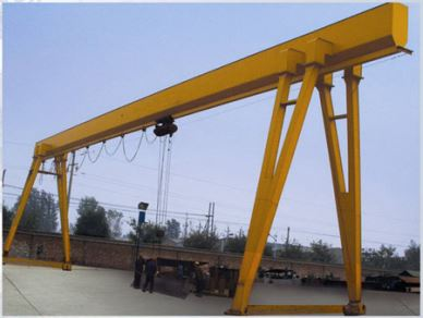 Light Duty Electric Dvigalo Single Girder Gantry Crane 10 Ton