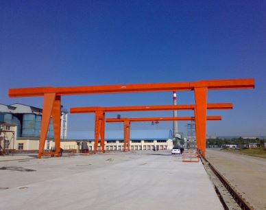 MH Light Duty Mobile Enojni nosilec Gantry Crane 10 Ton